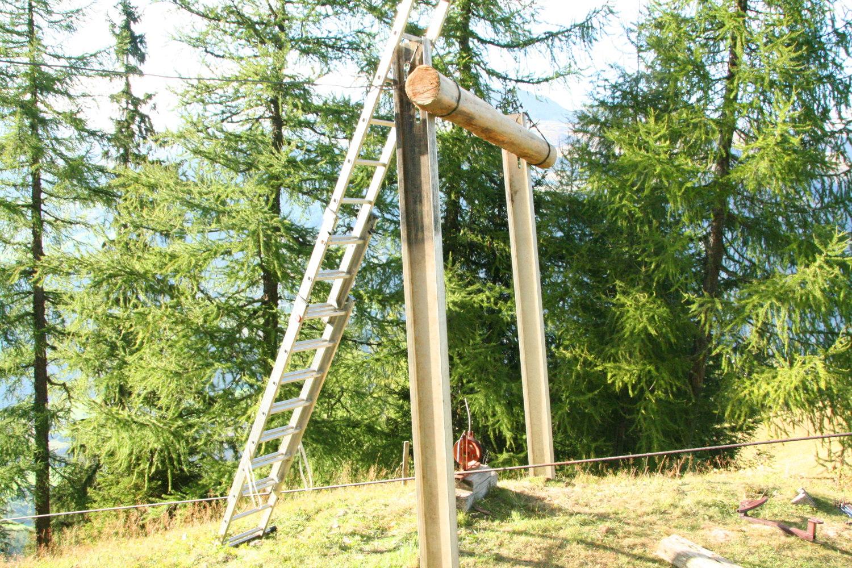 reparatur am Mast