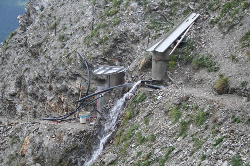 Sammelbecken - von hier geht das Wasser auf den Widder