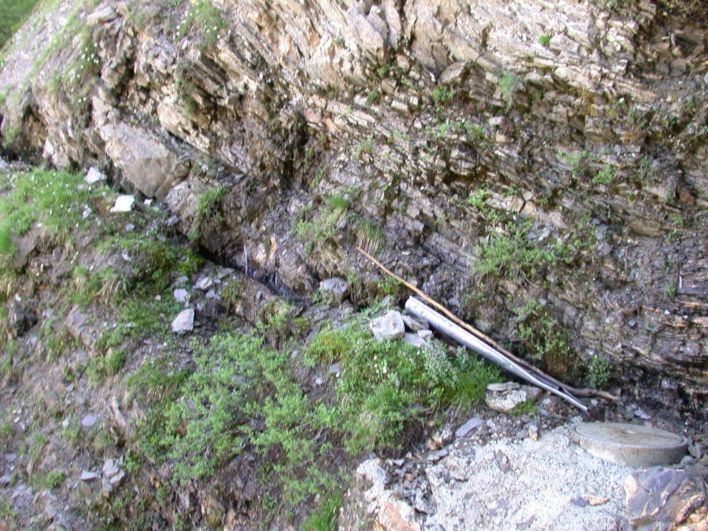 an der Felsstruktur sieht man, dass da eine Quelle sein muss