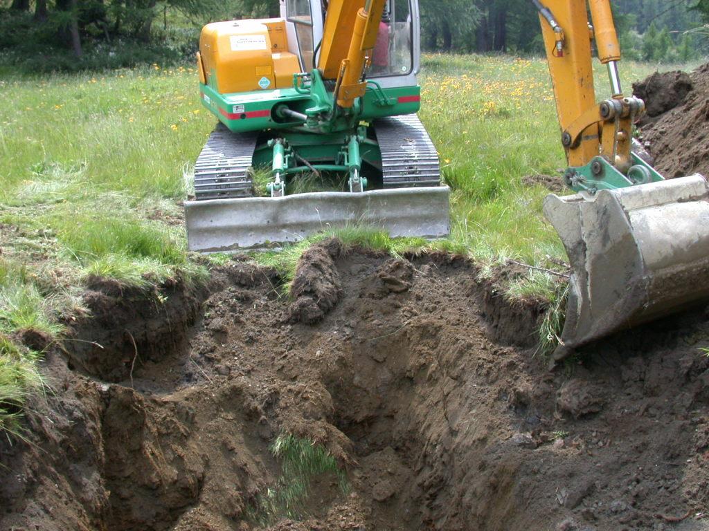 hier wird ein anderes Loch gegraben